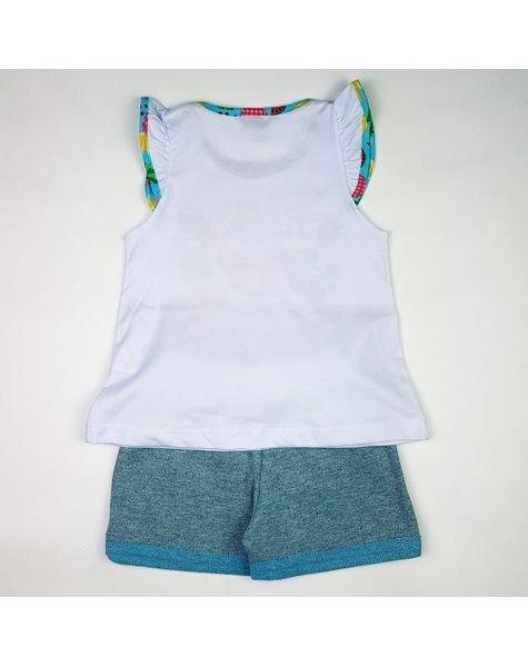 Conjunto Infantil Meia Malha Cotton Summer Duzizo 5596 Branco ab3f5a022db