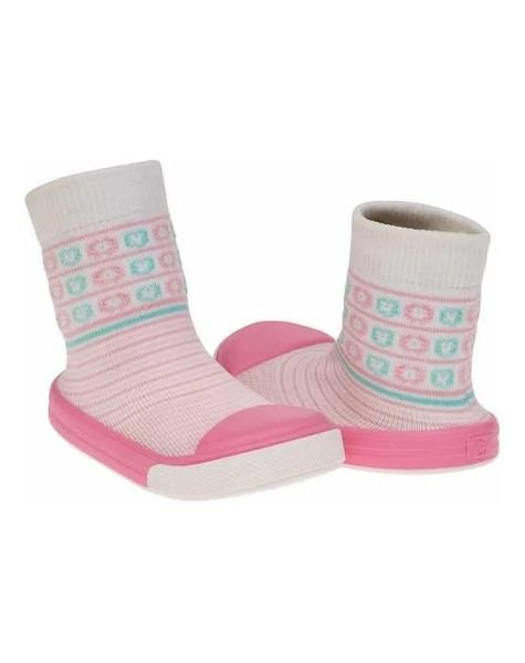 meia solado pimpolho linha confort rosa listras beb menina d nq np 823427 mlb41267757121 032020 f